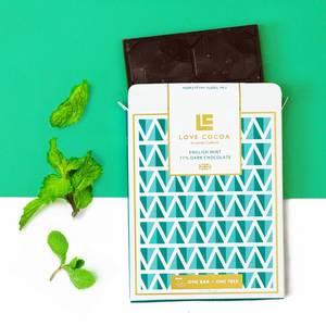 Bilde av Love Cocoa Dark Chocolate`English Mint`70%